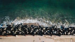 Παραλία από την άποψη SF του κηφήνα Στοκ Εικόνα