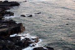 Παραλία βράχου στο goa Στοκ εικόνα με δικαίωμα ελεύθερης χρήσης