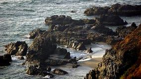 Παραλία βράχου στο goa Στοκ Φωτογραφία
