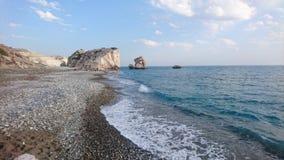 Παραλία βράχου Aphrodite ` s, Κύπρος Στοκ φωτογραφία με δικαίωμα ελεύθερης χρήσης