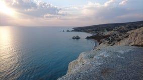 Παραλία βράχου Aphrodite ` s, Κύπρος Στοκ Εικόνες