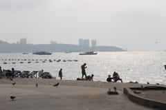 Παραλία βόρειου Pattaya Στοκ Εικόνες