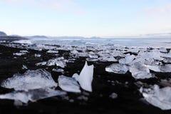 Παραλία διαμαντιών - Ισλανδία - Jokulsarlon Στοκ Φωτογραφία