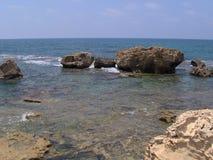 Παραλία ελαστικών αυτοκινήτου, νότιος Λίβανος στοκ φωτογραφία