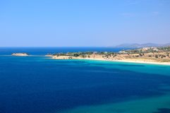 παραλία ελληνικά Στοκ φωτογραφία με δικαίωμα ελεύθερης χρήσης