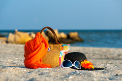 παραλία εξαρτημάτων στοκ εικόνες με δικαίωμα ελεύθερης χρήσης