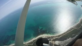 Παραλία ερήμων - κεραία απόθεμα βίντεο