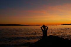 Παραλία 01 ηλιοβασιλέματος στοκ εικόνες με δικαίωμα ελεύθερης χρήσης