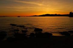 Παραλία 01 ηλιοβασιλέματος στοκ εικόνες