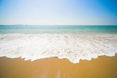 παραλία ηλιόλουστη Στοκ Φωτογραφίες