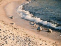 Παραλία θάλασσας, άμμου και ήλιων detaisl στοκ φωτογραφίες