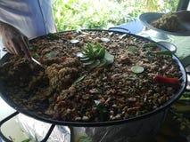 Παραλία θαλασσινών paella exotica τροφίμων Στοκ Εικόνες