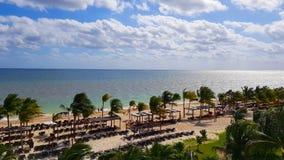 Παραλία θερέτρου Cancun στοκ εικόνες