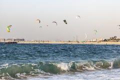 Παραλία ικτίνων στο Ντουμπάι, Ε.Α.Ε. Στοκ Φωτογραφίες