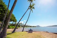 παραλία κάτοικος της Χαβάης Στοκ Φωτογραφίες