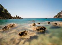 Παραλία Κέρκυρα Paleokastritsa Στοκ φωτογραφία με δικαίωμα ελεύθερης χρήσης