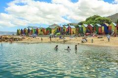 Παραλία Καίηπ Τάουν Muizenberg Στοκ Εικόνες