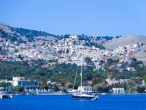 Παραλία και βάρκα στοκ εικόνες με δικαίωμα ελεύθερης χρήσης