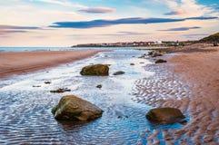 Παραλία και πόλη κόλπων Whitley Στοκ Εικόνα