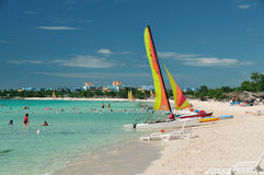 παραλία Καραϊβικές Θάλασ&sig Στοκ εικόνα με δικαίωμα ελεύθερης χρήσης