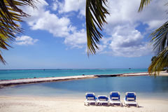 παραλία Καραϊβικές Θάλασ&sig Στοκ φωτογραφία με δικαίωμα ελεύθερης χρήσης