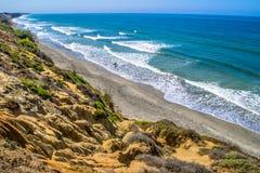 Παραλία κομητειών του Σαν Ντιέγκο στοκ εικόνες