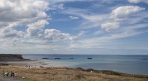Παραλία κοντά σε Arromanches σε Normandie Γαλλία Στοκ φωτογραφία με δικαίωμα ελεύθερης χρήσης