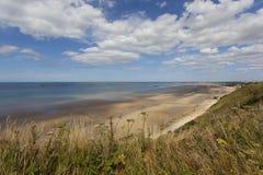 Παραλία κοντά σε Arromanches σε Normandie Γαλλία Στοκ Εικόνα