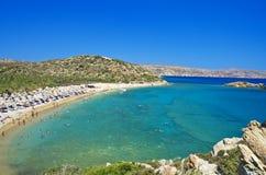 Παραλία Κρήτη Vai Στοκ εικόνες με δικαίωμα ελεύθερης χρήσης
