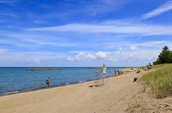 Παραλία κρατικών πάρκων νησιών Presque στο Erie Πενσυλβανία στοκ εικόνα με δικαίωμα ελεύθερης χρήσης