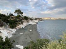 Παραλία κυβερνήτη στη νότια ακτή της Κύπρου στοκ φωτογραφία με δικαίωμα ελεύθερης χρήσης