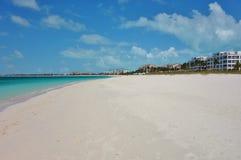 Παραλία κόλπων της Grace σε Providenciales, Τούρκοι και τα Caicos Στοκ εικόνες με δικαίωμα ελεύθερης χρήσης
