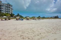 Παραλία κόλπων της Grace σε Providenciales, Τούρκοι και τα Caicos Στοκ Φωτογραφίες
