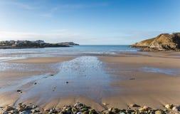 Παραλία κόλπων Cemaes στη βόρεια Ουαλία Anglesey Στοκ Εικόνες