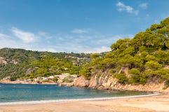 Παραλία Κόστα Μπράβα, Begur, Ισπανία στοκ εικόνες με δικαίωμα ελεύθερης χρήσης