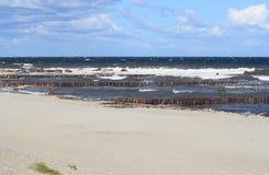 παραλία μόνη Στοκ εικόνες με δικαίωμα ελεύθερης χρήσης