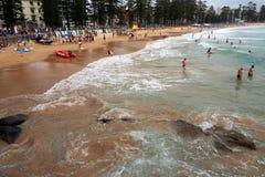 Παραλία νότιου Steyne, ανδρική, Σίδνεϊ, Αυστραλία Στοκ Φωτογραφίες