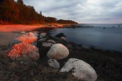 παραλία πέρα από το κόκκινο &e Στοκ φωτογραφίες με δικαίωμα ελεύθερης χρήσης