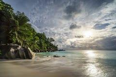 Παραλία παραδείσου στο anse Georgette, praslin, Σεϋχέλλες 18 Στοκ Φωτογραφίες