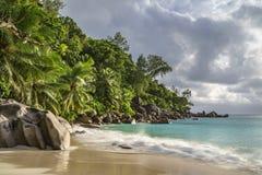 Παραλία παραδείσου στο anse Georgette, praslin, Σεϋχέλλες 28 Στοκ φωτογραφίες με δικαίωμα ελεύθερης χρήσης