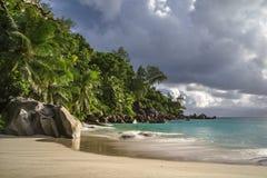 Παραλία παραδείσου στο anse Georgette, praslin, Σεϋχέλλες 39 Στοκ Φωτογραφίες