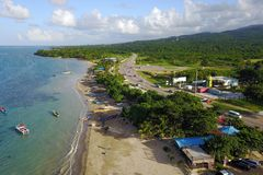 Παραλία παραδείσου του Σάλεμ, Τζαμάικα Στοκ εικόνα με δικαίωμα ελεύθερης χρήσης