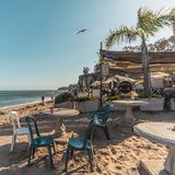 Παραλία παραδείσου Malibu στοκ εικόνες