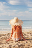 παραλία που χαλαρώνει την Στοκ εικόνες με δικαίωμα ελεύθερης χρήσης