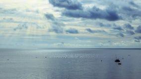 Παραλία πριν από τη θύελλα Στοκ Εικόνες