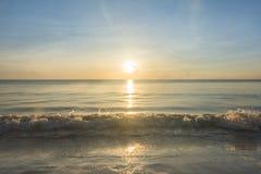 Παραλία πρωινού Στοκ Φωτογραφίες