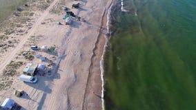 Παραλία πυροβολισμού απόθεμα βίντεο