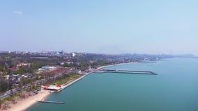 Παραλία πόλεων στην πόλη Mariupol απόθεμα βίντεο