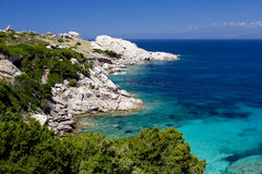 Παραλία Σαρδηνία Capo Testa Στοκ εικόνα με δικαίωμα ελεύθερης χρήσης