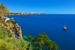 Παραλία σε Antalya Τουρκία Στοκ Εικόνες